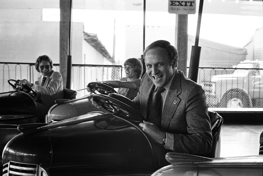 Photo - Dick Cheney in a bumper car, Dallas, 1976.