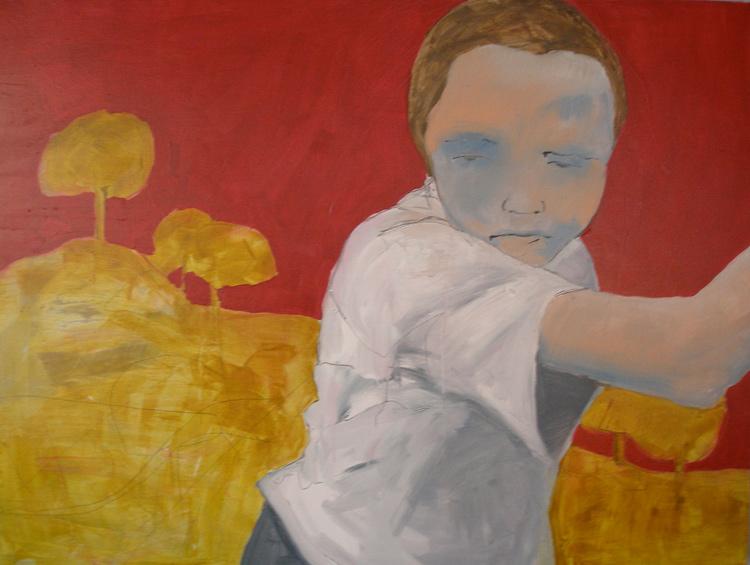 Boy alone 2009 acrylic on canvas 36 x48